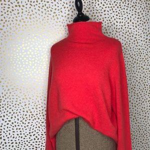 Madewell orange oversized sweater NWT